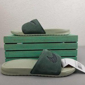Nike Benassi Leather Mineral Spruce Slides
